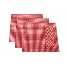 """Салфетка """"Red Kimberly"""", 4 шт., 32x32см 132217630"""