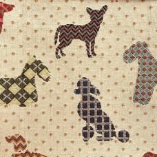 Ткань Galleria Arben DOGS BEIGE