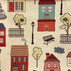 Ткань Galleria Arben HOUSES BEIGE