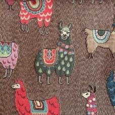 Ткань Galleria Arben LAMA BROWN